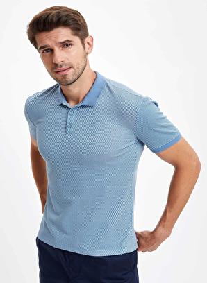DeFacto Polo Yaka Kısa Kollu Slim Fit Pamuklu Tişört